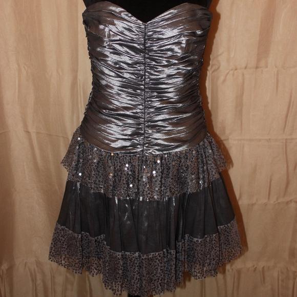 Betsey Johnson Dresses & Skirts - Betsey Johnson Silver Homecoming Dre